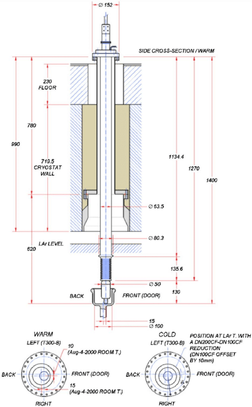 small resolution of the hv feedthrough position for the t600 detector the lower figure heat detector wiring diagram t300