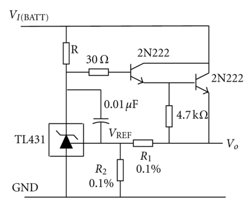 The schematic circuit diagram for conditioning the strain