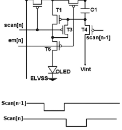 schematic and timing diagram of 6t 1c amoled pixel circuit  [ 850 x 1178 Pixel ]