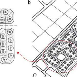 Layouts of some low-income public housing projects in