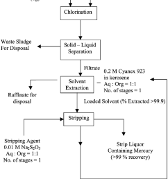 a schematic diagram for the extraction of mercury from brine sludge of chlor alkali [ 850 x 1081 Pixel ]