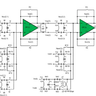 Simplified circuit diagram of the amplifier of the first
