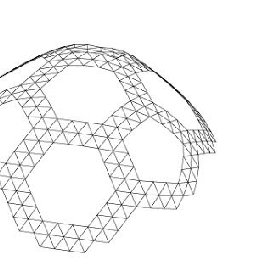 Physical models. a) B.Fuller's geodesic dome cap from 3