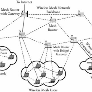 The network topology of multihop wireless mesh network