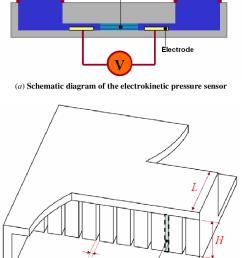 electrokinetic pressure sensor a schematic diagram of the electrokinetic pressure sensor and  [ 693 x 1146 Pixel ]