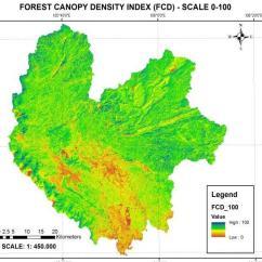 Forest Canopy Diagram 1999 Club Car Wiring Density Fcd Scale 0 100 Download Scientific