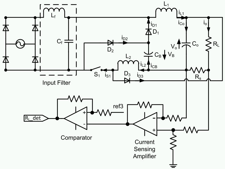 Proposed converter which combines a buck PFC cell and a