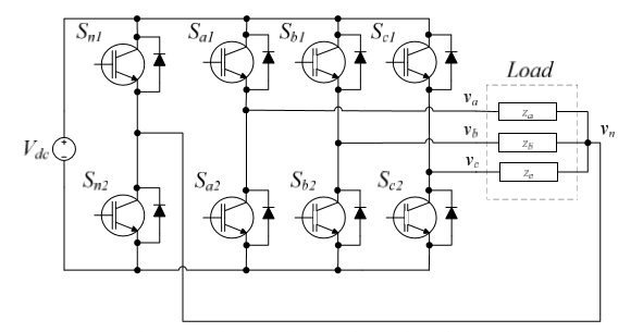 Topology of the three phase three-wire inverter Figure 6