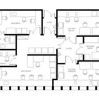 Detalhe do layout do Laboratório de Biologia Estrutural