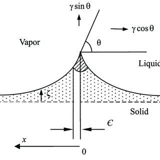 (a) Schematic view of the capillary bridge between two