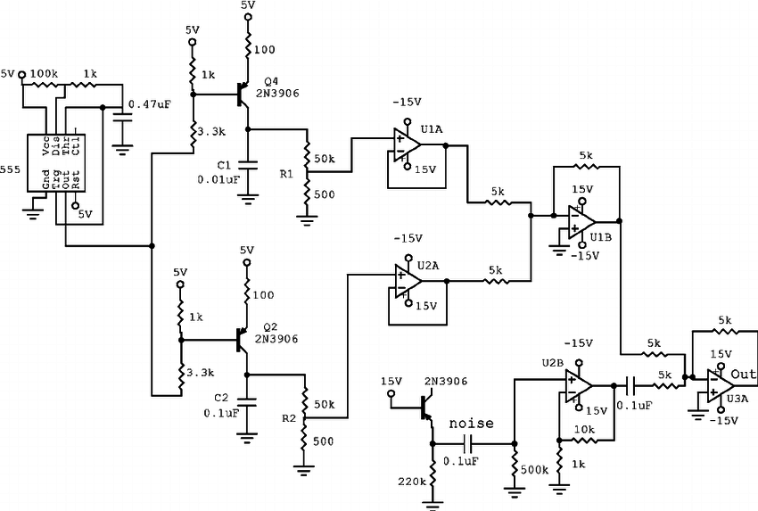 Circuit for generating voltage decays in the presence of