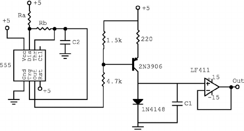 Schematic for repetitive discharge of the diode–capacitor