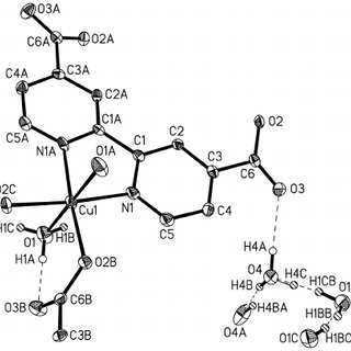 Molecular structure and atomic numbering scheme in H 2