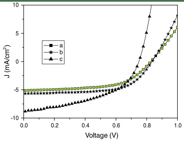 Current density–voltage (J–V) characteristics of AnE