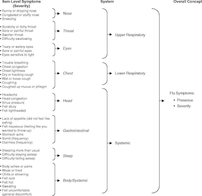 Flu-PRO draft conceptual framework   Download Scientific Diagram