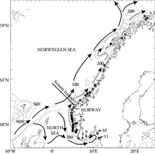 The spawning area, migration route and Norwegian fishing