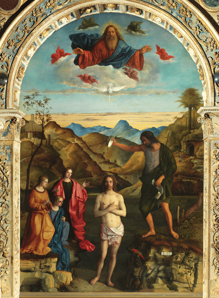 medium resolution of giovanni bellini baptism of christ 1500 1502 oil on wood