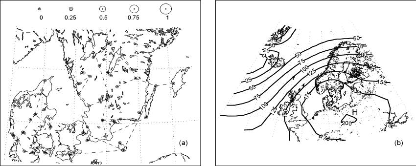 2: Weather state 1: (a) precipitation occurrence