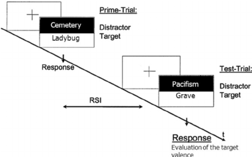 Procedure of the negative affective priming task extended