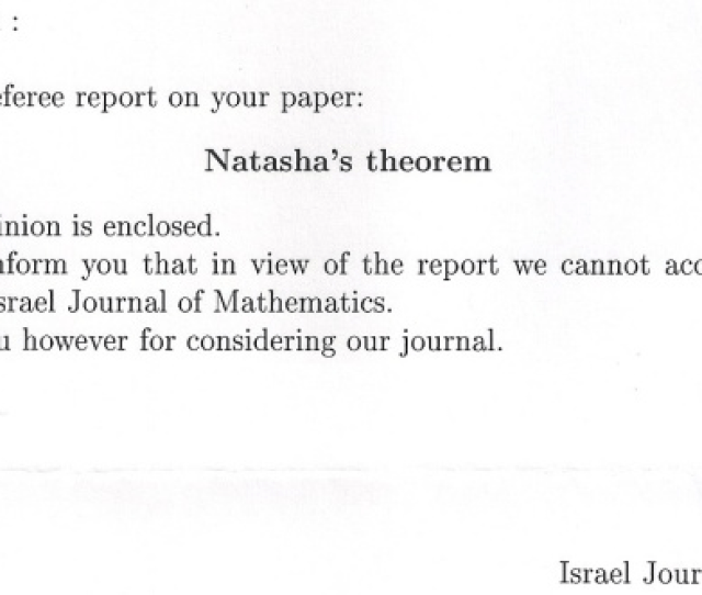 Rejection Letter Dated August 21 2003