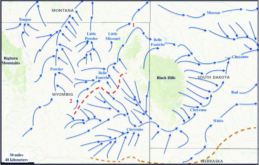 Modified Map From The United States Geological Survey Usgs