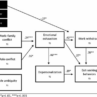 Path analytic model of workplace stressors, burnout and