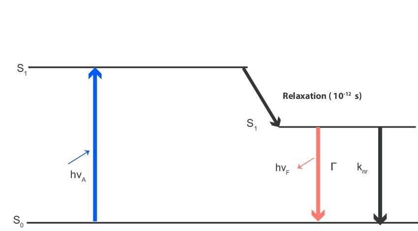 2: A basic Jablonski diagram illustrating the quantum