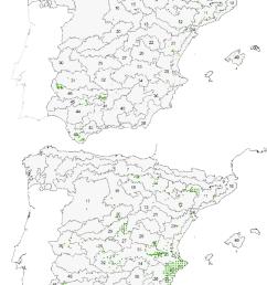distribuci n de rhamnus alaternus superior y rh lycioides inferior [ 850 x 1154 Pixel ]