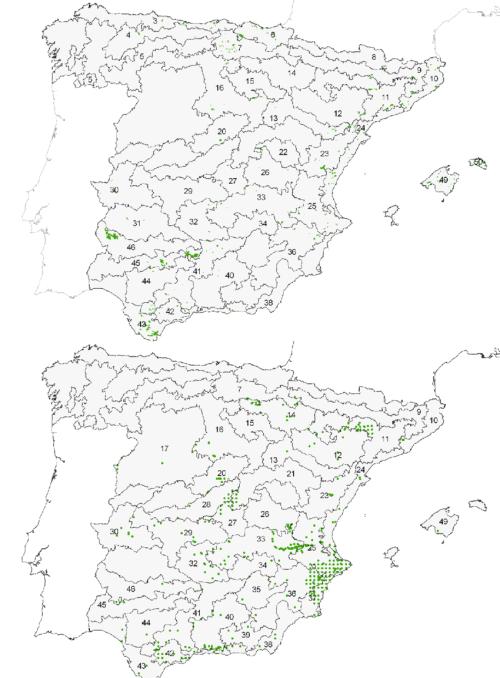 small resolution of distribuci n de rhamnus alaternus superior y rh lycioides inferior