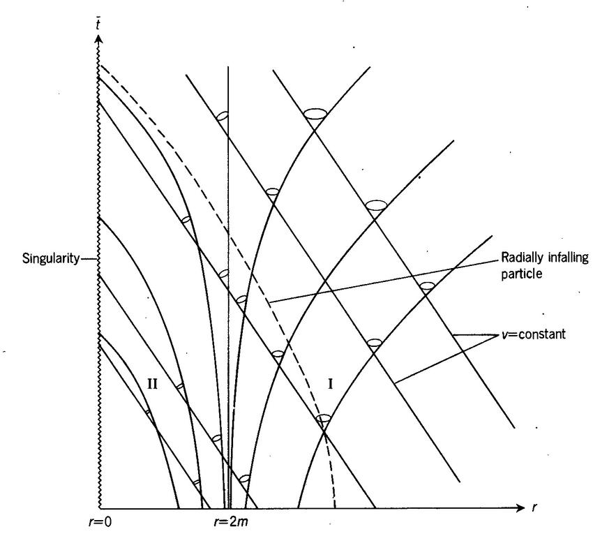 Eddington-Finkelstein solution for null-geodesics (two