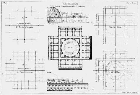 Figure 4. J.N.L. Durand, Table 20 of Précis des leçons d