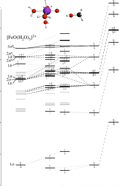 small resolution of figure s4 orbital interaction diagram for the interaction of feo h 2 o