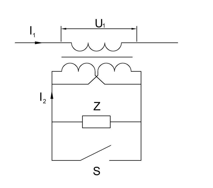 The coaxial cable transformer-based current limiting