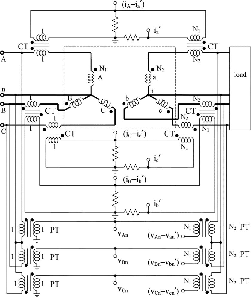 medium resolution of twelve channel cat circuit for accurate y 0 y three phase transformer loss monitoring