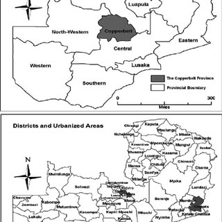 Spatial distribution of Zambia's rural and urban