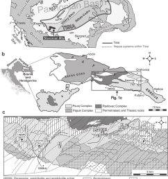 a tectonic setting of the tisia unit within the alpine carpathian dinaric framework with the position of the slavonian mts and b sketch map of slavonian mts  [ 850 x 1230 Pixel ]