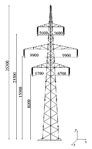 Typical Slovenian double-circuit 400 kV overhead power
