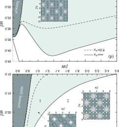 the phase diagram square white region and deformed triangular light gray region [ 850 x 1259 Pixel ]