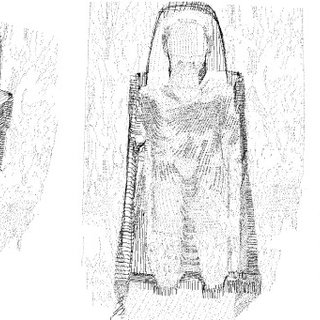 Alexander Burnes' drawing of the Buddhas of Bamiyan