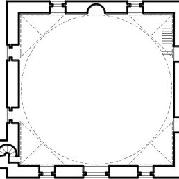 Courtyard dome layout; Guzelce Hassan Bey Mosque