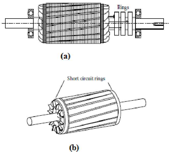 1 Induction motor rotor types (a) Wounded rotor (b
