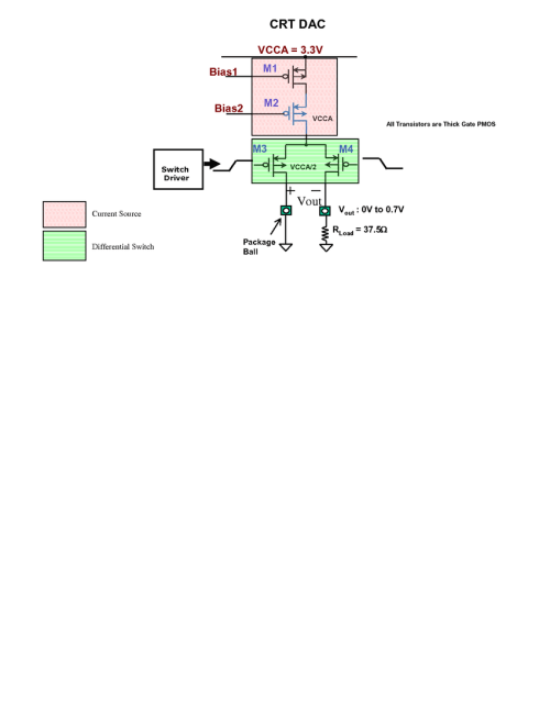 small resolution of circuit diagram of the current source differential switch for the crt dac table ii aging