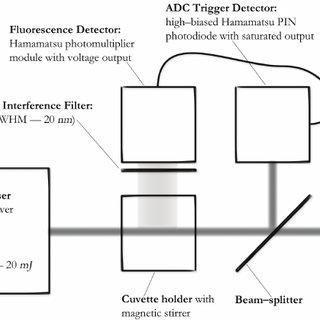 Block diagram of the laser fluorimeter for Nonlinear Laser