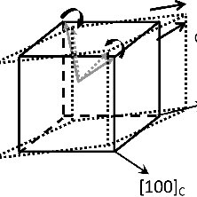 Schematic polarization rotation process and related face