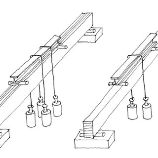 Three point bending tests for selecting the timber