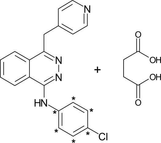Chemical structure of 14 C-radiolabeled vatalanib