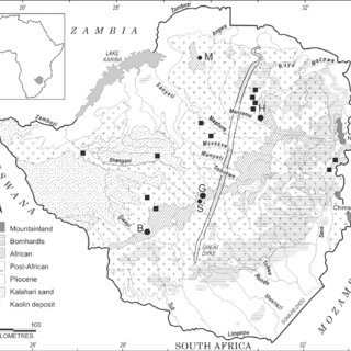 Distribution of known kimberlites (solid diamonds) in