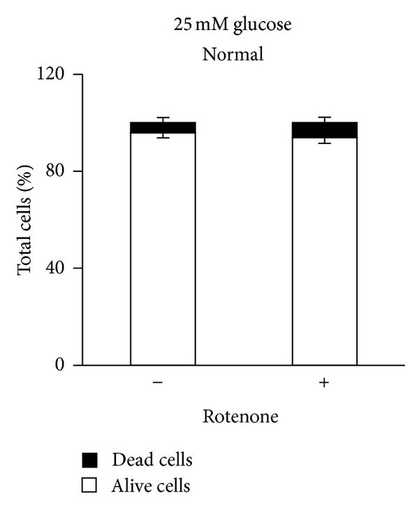 MDA-MB-231 cells are sensitive to rotenone in condition of