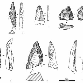 Selected Upper Paleolithic artifacts from Yafteh cave
