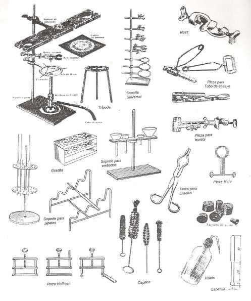 -Principales utensilios de metal, madera y caucho
